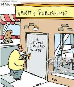 Vanity Publishing - The customer is always write